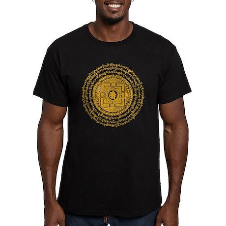 Golden-Om Men's Fitted T-Shirt (dark)
