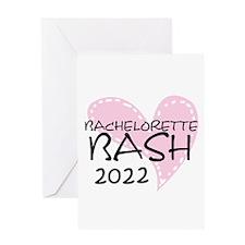 Pink Heart Bachelorette 2014 Greeting Card
