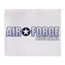 USAF Father Throw Blanket