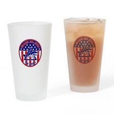 Gracie Red, White and Blue GE Drinking Glass
