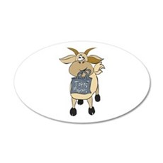 Funny Goats - Totes MaGoats 20x12 Oval Wall Decal