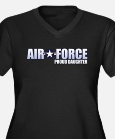 USAF Daughter Women's Plus Size V-Neck Dark T-Shir