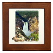 Lower Falls, Yellowstone Park 3 Framed Tile