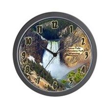 Lower Falls, Yellowstone Park 3 Wall Clock