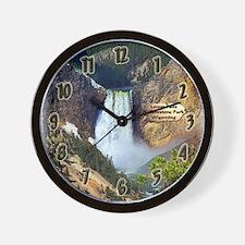 Lower Falls, Yellowstone Park 3 Wall Clock