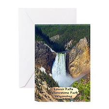 Lower Falls, Yellowstone Park 3 Greeting Card
