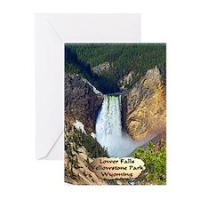 Lower Falls, Yellowstone Park 3 Greeting Cards (Pk