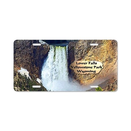 Lower Falls, Yellowstone Park 3 Aluminum License P