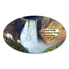 Lower Falls, Yellowstone Park 3 Decal
