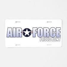 USAF Aunt Aluminum License Plate