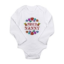 Proud Nanny Long Sleeve Infant Bodysuit