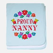 Proud Nanny baby blanket