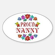 Proud Nanny Sticker (Oval)