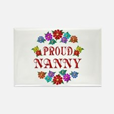 Proud Nanny Rectangle Magnet