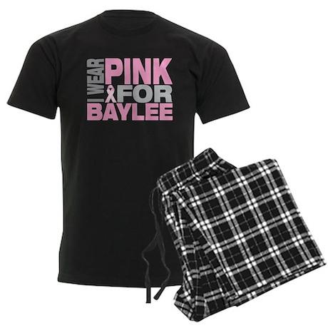 I wear pink for Baylee Men's Dark Pajamas