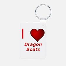 I Love Dragon Boats! Keychains
