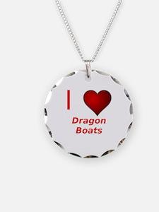 I Love Dragon Boats! Necklace