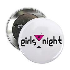 "Girls Night Pink Martini 2.25"" Button (10 pack)"