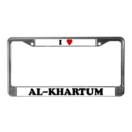 I Love Al-Khartum License Plate Frame