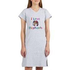 I Love Elephants Women's Nightshirt