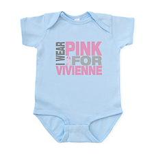 I wear pink for Vivienne Infant Bodysuit