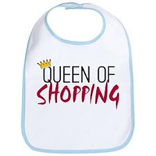 'Queen of Shopping' Bib