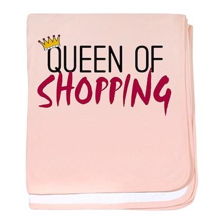'Queen of Shopping' baby blanket