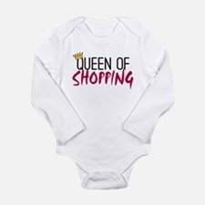 'Queen of Shopping' Long Sleeve Infant Bodysuit