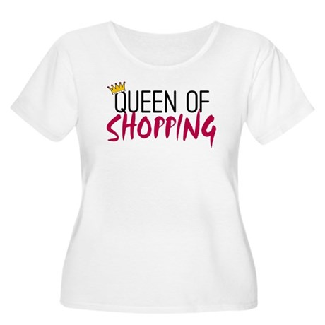 'Queen of Shopping' Women's Plus Size Scoop Neck T