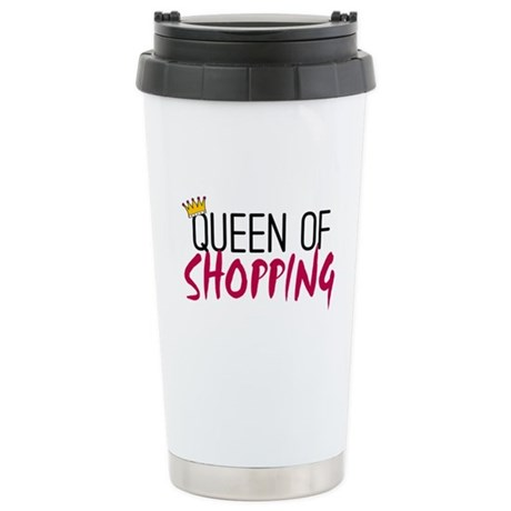 'Queen of Shopping' Stainless Steel Travel Mug
