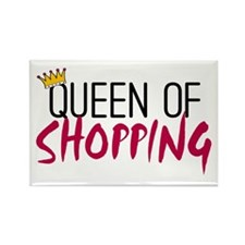 'Queen of Shopping' Rectangle Magnet