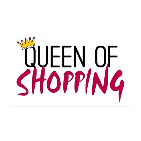 'Queen of Shopping' 38.5 x 24.5 Wall Peel