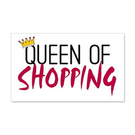 'Queen of Shopping' 22x14 Wall Peel