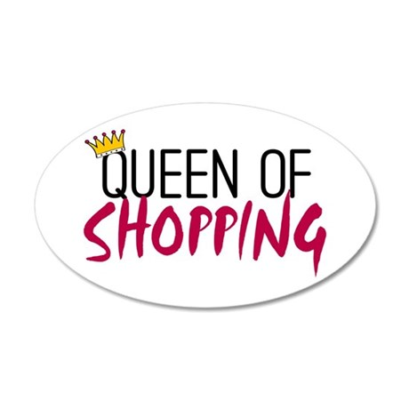 'Queen of Shopping' 38.5 x 24.5 Oval Wall Peel