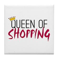 'Queen of Shopping' Tile Coaster