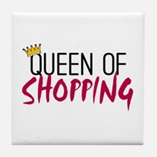 'Queen of Shopping' Tile Coaster
