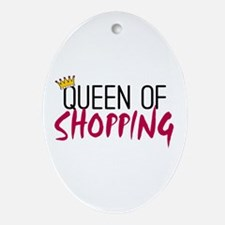 'Queen of Shopping' Ornament (Oval)