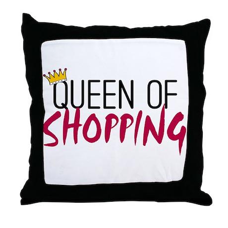 'Queen of Shopping' Throw Pillow