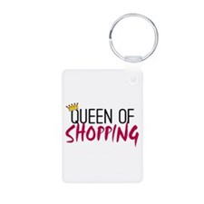'Queen of Shopping' Keychains