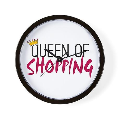 'Queen of Shopping' Wall Clock