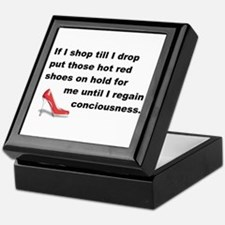 Shop Till I Drop Keepsake Box
