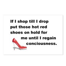 Shop Till I Drop Postcards (Package of 8)
