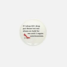 Shop Till I Drop Mini Button (100 pack)