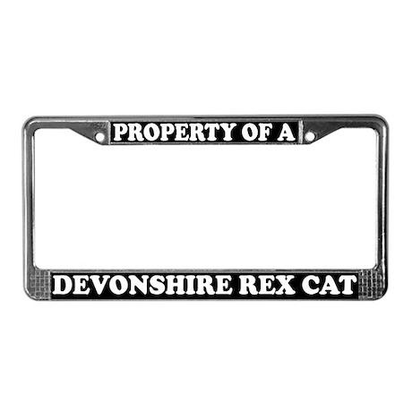 Property Of Devonshire Rex Cat License Plate Frame