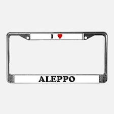 I Love Aleppo License Plate Frame