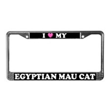 I Heart My Egyptian Mau Cat License Plate Frame