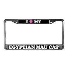 I Heart My Egyptian Mau Cat License Plate Frame