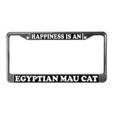 Happiness Is Egyptian Mau Cat License Plate Frame