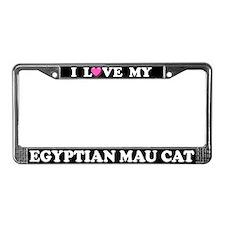 I Love My Egyptian Mau Cat License Plate Frame