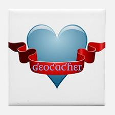 Geocacher Ribbon Tile Coaster